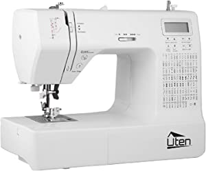 Portable Sewing Machine Computerized Embroidery Sewing Machine with 200 Unique Built-in Stitch and 8 Buttonholes