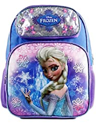 Disney Frozen Elsa Blue Girls 16 Large Backpack for School