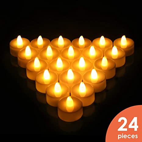 Amazon Com Flameless Candles Led Tea Light Candles With Battery