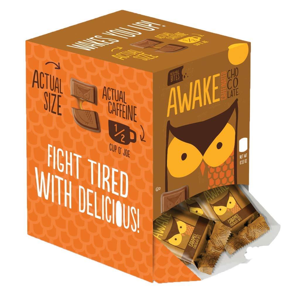 Awake Chocolate Caramel Chocolate Bites, 145 count by AWAKE Caffeinated Chocolate (Image #1)