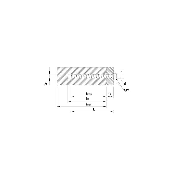 HECO-MM Sechskantkopf 10x160 verzinkt Multi-Monti Schraubanker mit Zulassung 25 St/ück,41156