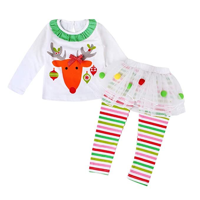 COOKDATE Chica Alce Navidad Culottes Traje, 6 Meses~4 Años ...