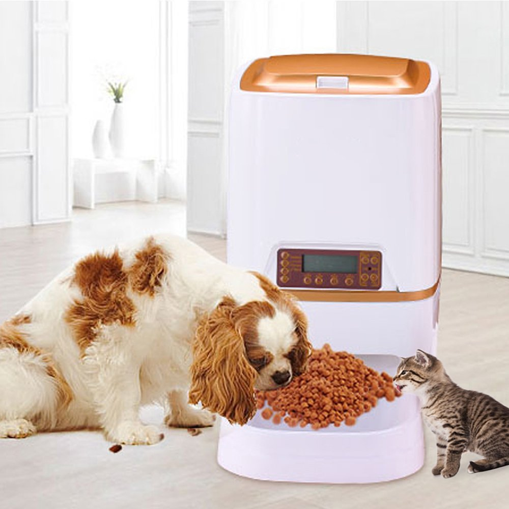 WESTLINK 6L Automatic Pet Feeder Food Dispenser for Cat Dog with Voice Recorder and Timer Programmable by WESTLINK (Image #3)