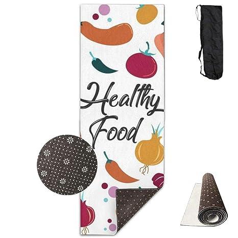 FGRYGF Healthy Food Printed Design Yoga Mat Extra Thick ...