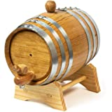 Urban Bar Oak Ageing Barrel 1 Litre - Handmade American White Oak - Age Spirits and Cocktails