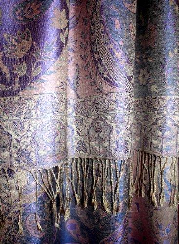LORENZO CANA Womens Italian Scarf Pashmina 100% Silk 29 x 75 inches Paisley - 78083