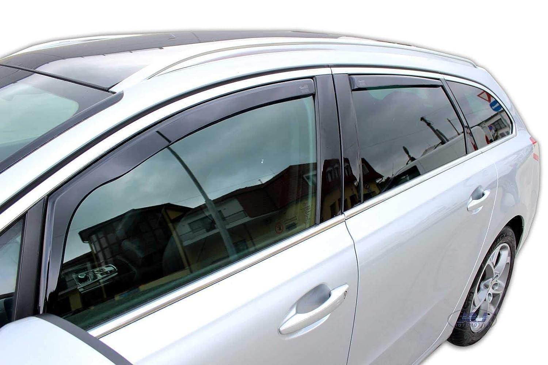 Deflecteurs dair D/éflecteurs de Vent Compatible avec Peugeot 508 2013 J/&J AUTOMOTIVE pr/és 5 Porte Break 4 pcs