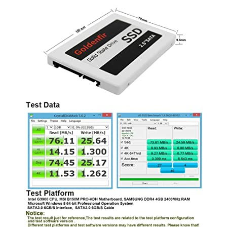 Alician - Disco Duro SSD de 2,5