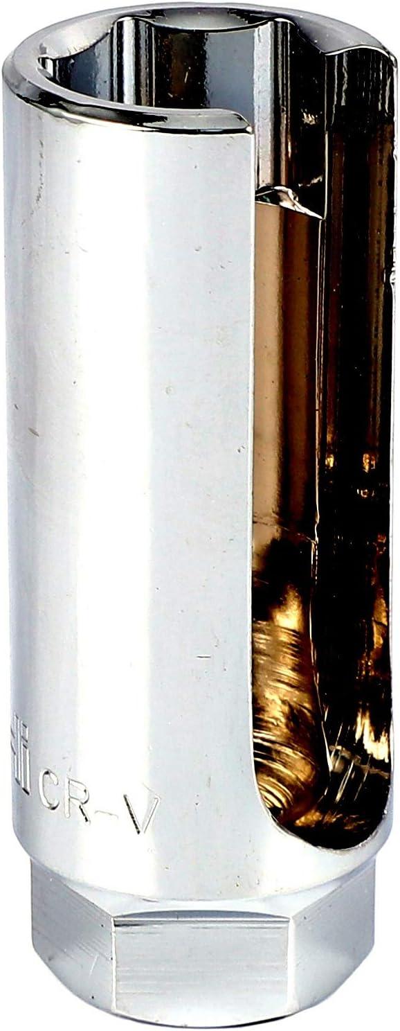 Yaootely 22 Mm 3//8 Pulgadas Unidad Llave de Eliminaci/ón de Sensor de Ox/ígeno Lambda Herramienta Llave Agujero Herramientas de Reparaci/ón de Autom/óviles de Alambre de La Ventana Plata