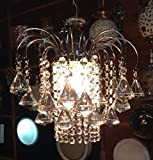 SFL Small Size Crystal Chandelier (fancy and attractive) with fine Chrom Finish Latest Design Attractive and Amazing Design. White Color