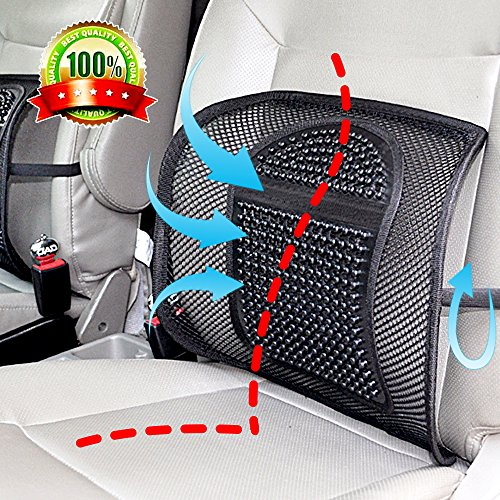 Double Mesh Lumbar Support Chair Cushion Waist Lower Back Supportive Cushions,Ice Silk Chair Seating Support Cushion for Car Home Office,Upgraded Breathable Seat Chair Sofa Lumbar Back Waist Support by Autocastle