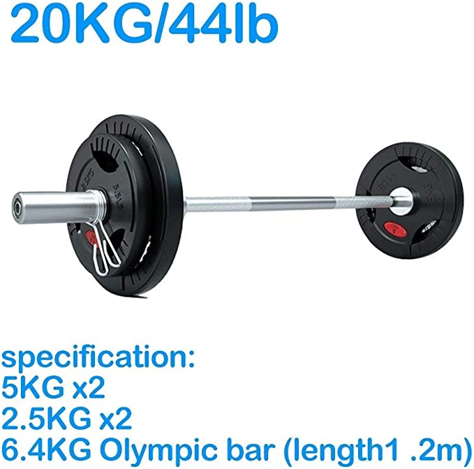 20KG Kurzhanteln Hantel Set Krafttraining Lifting Gym Fitness Barbell Bar DE!