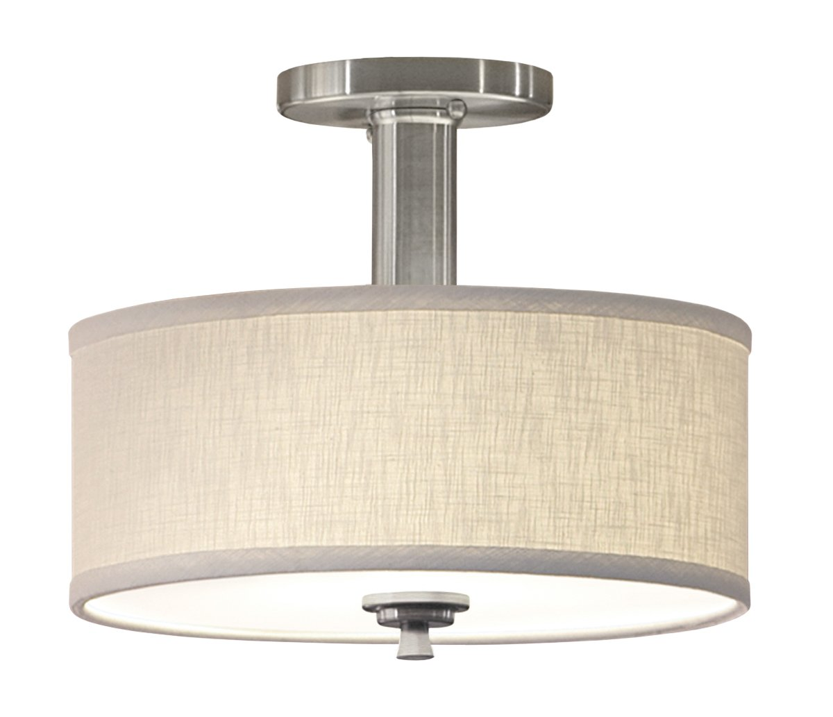 Good Earth Lighting Valencia SemiFlush Ceiling Light Brushed - Kitchen semi flush mount ceiling lights