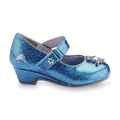 04c3b2e271a4 Amazon.com | Disney Toddler Girl's Frozen Sparkle Blue Mary Jane ...