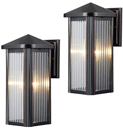 Hardware House 230742 12 1/2 By 6 Inch Aluminum Outdoor Light Fixtures, Oil  Rubbed Bronze   Twin Pack     Amazon.com