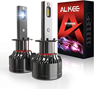 H1 LED Headlight Bulb, Aukee 110W High Power 18,000LM Extremely Bright 6000K Cool White CSP Chips Conversion Kit Adjustable Beam
