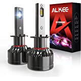 H1 LED Headlight Bulb, Aukee 110W High Power 18,000LM Extremely Bright 6000K Cool White CSP Chips Conversion Kit Adjustable B