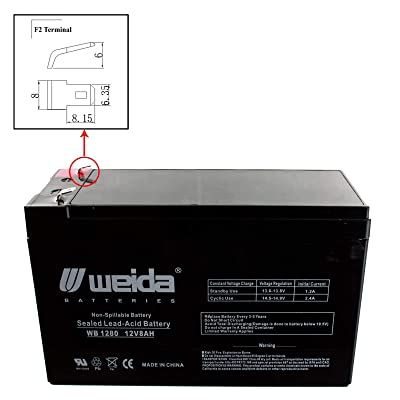 New 12V 8Ah SLA Battery WB1280F2 Replaces UB1280, PS1280, WKA12-8F USA : Sports & Outdoors