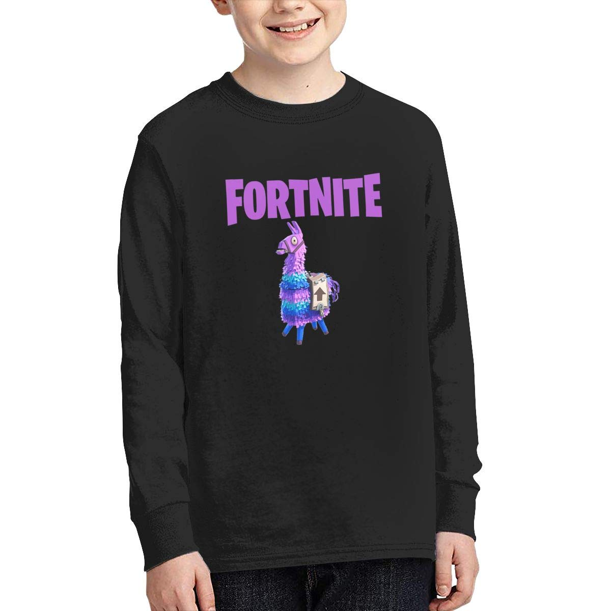 Fortnite Llama Unicorn Long Sleeve Teen Boys Sweater gamefotsoa