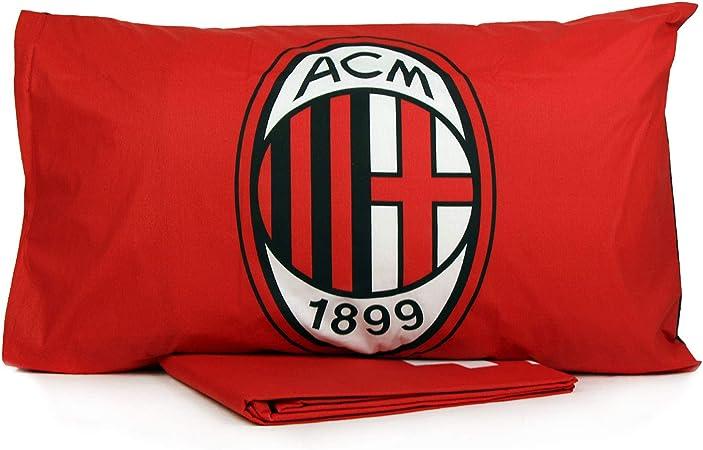 Copripiumino Milan Singolo.A C Milan Sacco Copripiumino Singolo Cotone Federa Ufficiale