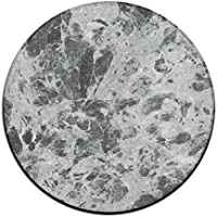 ART TANG Gray And White Marble Texture Area Rug Washable Carpet Non-slip Round Floor Mat Study Room Floor Mat (24 Inch Round)