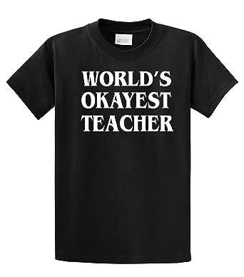 61921214456 Amazon.com  Funny T-Shirt World s Okayest Teacher  Clothing