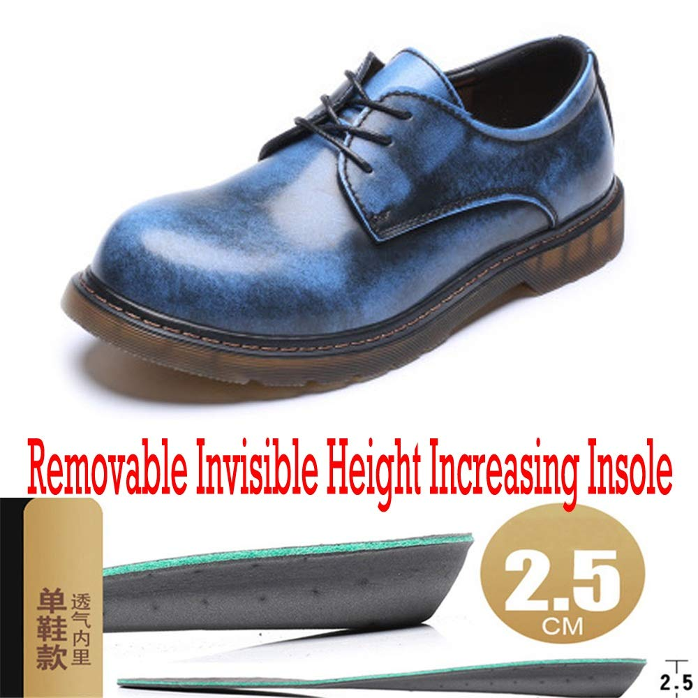 Sunny&Baby Men's Elevator Work Boots Genuine Leather Low Top Shoes Waterproof Shoes Top Removable 1