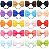 20 Pcs Hair Bow Tiny Hair Bows with Elastic Loop Ponytail Ties Pony Tail Holder Accessories for Infants Toddlers Girls…