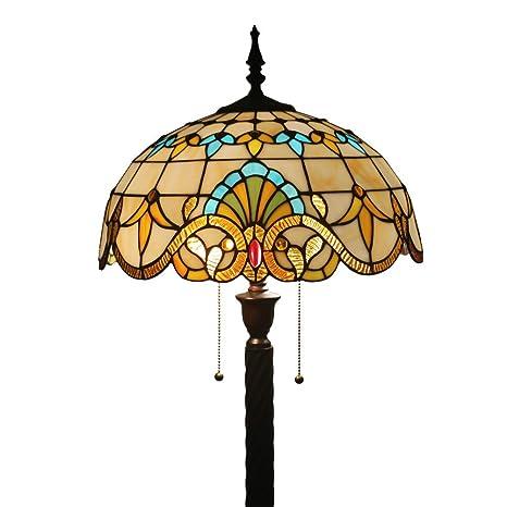 FABAKIRA Lámparas de pie Iluminación Tiffany Estilo Lámpara de la Sala de Estar de la Barra