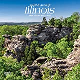 Illinois Wild & Scenic 2020 7 x 7 Inch Monthly Mini Wall Calendar, USA United States of America Midwest State Nature