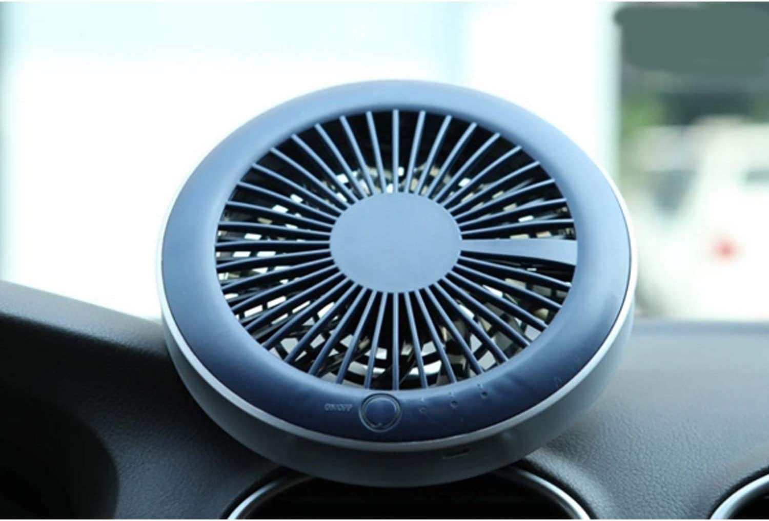 Color : White Fan Mini Electric Fan Portable Personal Fan Mute Bed USB Rechargeable Fan Holder Bracket for Car Mini Portable Cooling Fan