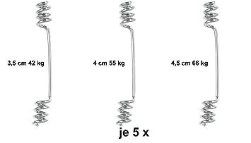 Wirbel in verschiedenen Größen Balzer Knotenlos Schnurverbinder
