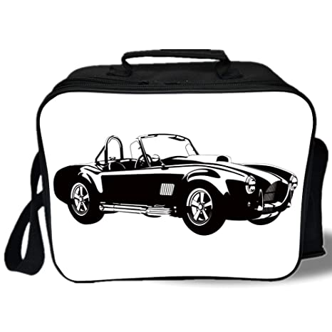 Amazon Com Insulated Lunch Bag Cars Silhouette Classic Sport Car