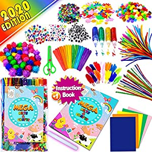 CCINEE Wiggle Eyes Disposable Forks and Chenille Set Kids Art /& Craft Supplies for School Projects DIY and Crafts Making