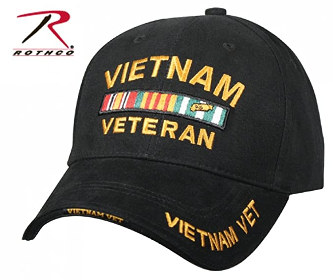 4febc8aae2a Amazon.com  Military Caps Vietnam Veteran Logo Baseball Cap
