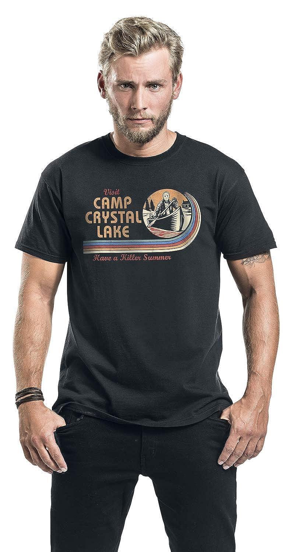 Friday The 13th Visit Camp Crystal Lake Camiseta Negro: Amazon.es: Ropa y accesorios