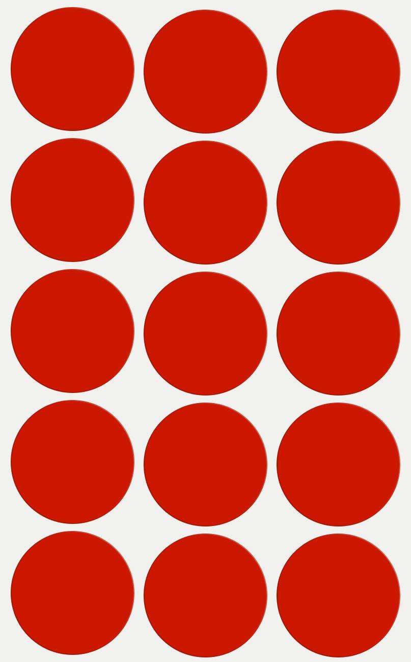 Royal Green Etiquetas de Sello de Sobres 3 cm Pegatinas en Forma de Puntos en Color Roja 30 mm Paquete de 225