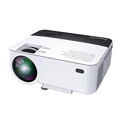 Amazon com: ExquizOn 2018 New Updated Mini Video Projector, 30