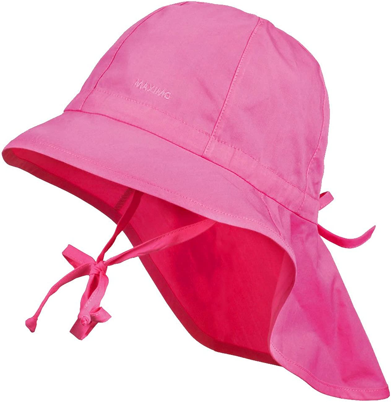 Hat Maximo Girls Sun Protection Hat with Neck Protection And Strings Plain UPF 30