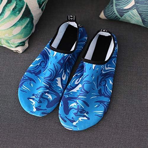 夏の女性と男性のアウトドアスポーツシューズビーチシューズ吸汗性のスイムシューズカットソーの靴マルチコード[ライトブルー] ポータブル (色 : Blue, Size : US8.5)