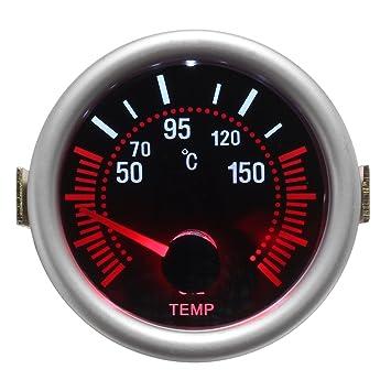Universal 2 Inch 52mm Digital LED Boost Vacuum Water Oil Temp Press Volt Tachol