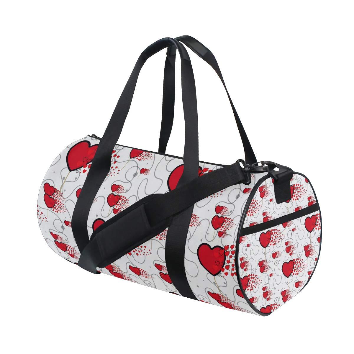 AHOMY Love Heart Sports Gym Bag Travel Overnight Duffel Bag for Men and Women
