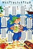 Poster Pirat: Das kleine Einmaleins - Zum lernen für Schulkinder - Größe 61 x 91,5 cm - Maxiposter