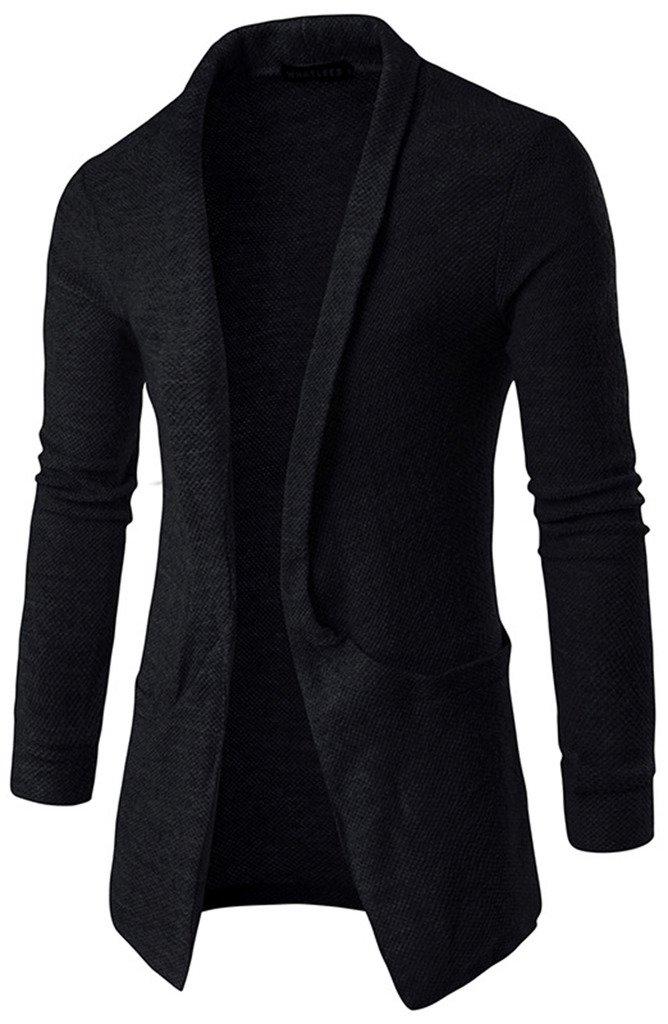 Whatlees Men's Casual Open Front Sweater Cardigan