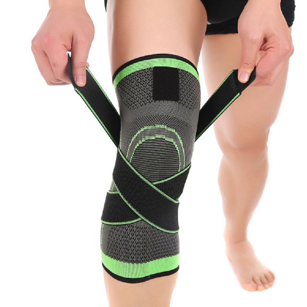 Knee Brace,Conlink Compression Support Knee Sleeve with Adjustable Strap Knee Pad for Pain Relief, Meniscus Tear, Arthritis, ACL, MCL,Suit for Running, Cycling, Tennis, Golf and Basketball by Conlink (Image #1)