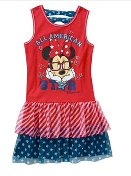 0d36a0f6746 Amazon.com  Girls Minnie Mouse All American Star Tutu Dress- 4th of ...