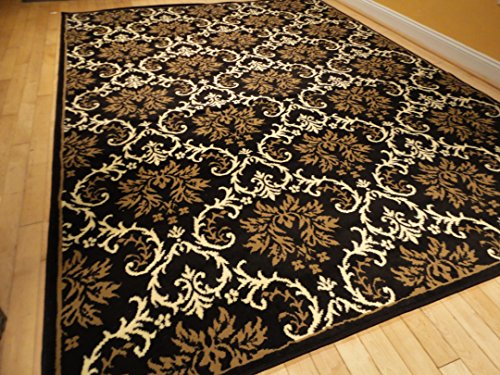 Large 5x8 Modern Rug Luxury Black Contemporary Rugs 5x7
