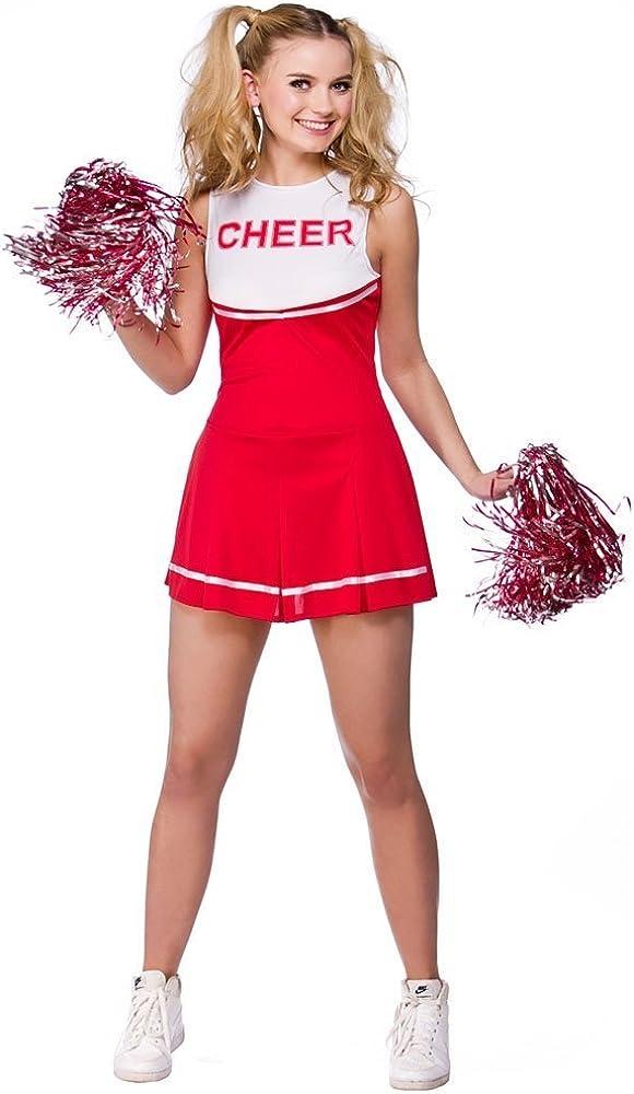 Red Wicked Ladies High School Cheerleader School Outfit
