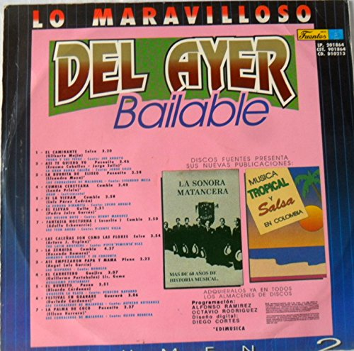 LP LO MARAVILLOSO DEL AYER BAILABLE LP VOLUMEN 2 FUENTES LP - LP LO MARAVILLOSO DEL AYER BAILABLE LP VOLUMEN 2 FUENTES LP - Amazon.com Music