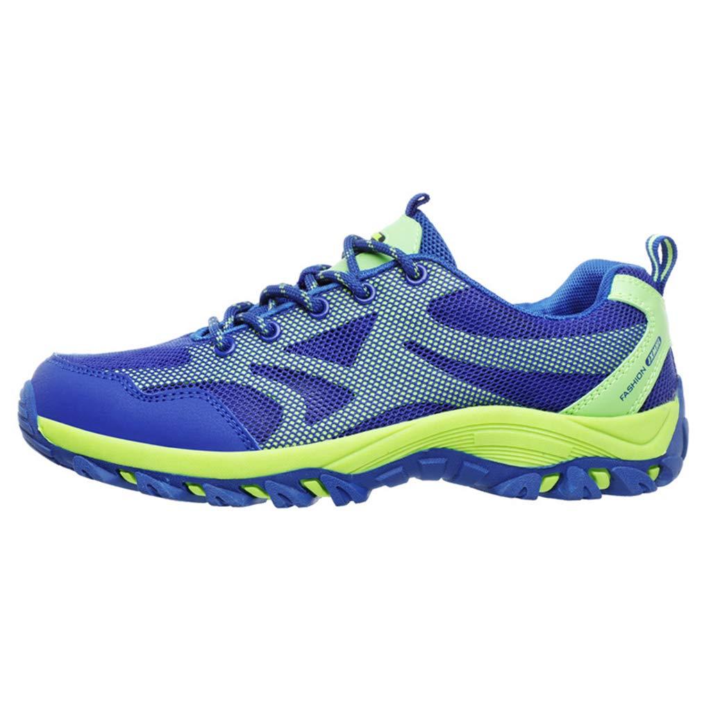 bleu  Henxizucun Chaussures de Marche en Plein air pour Hommes Chaussures de randonnée légères Bas Travail de sécurité au Travail Chaussures de Sport Slip on Trainers pour Escalade Trekking